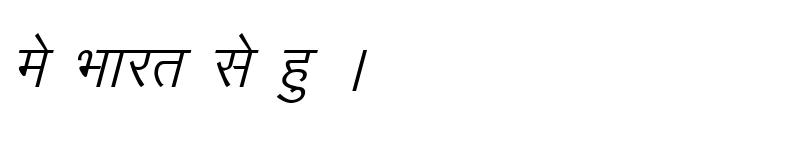 Preview of Kruti Dev 010 Italic