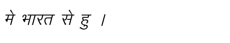 Preview of Kruti Dev 012 Italic