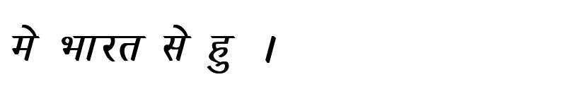 Preview of Kruti Dev 030 Bold Italic