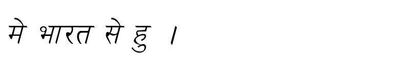 Preview of Kruti Dev 030 Italic