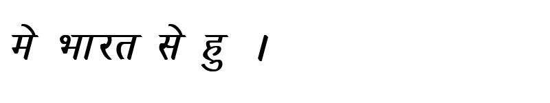Preview of Kruti Dev 033 Bold Italic