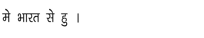 Preview of Kruti Dev 040 Condensed Regular