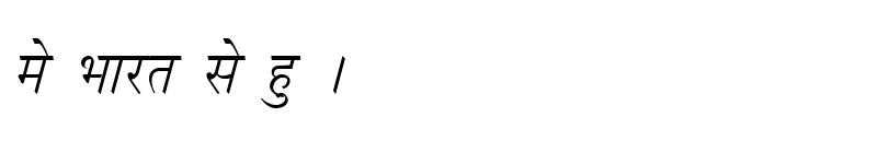 Preview of Kruti Dev 050 Italic