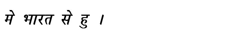 Preview of Kruti Dev 053 Bold Italic