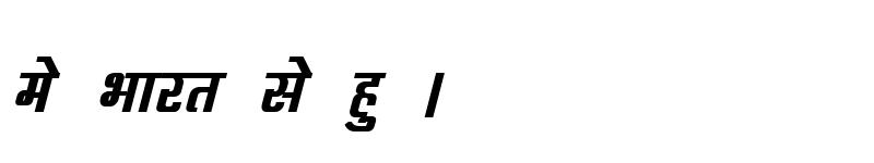 Preview of Kruti Dev 060 Bold Italic
