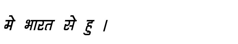 Preview of Kruti Dev 062 Italic