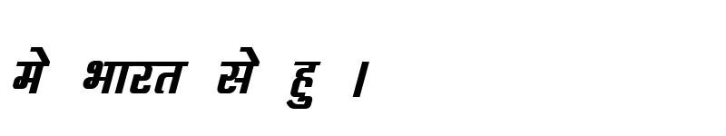 Preview of Kruti Dev 063 Bold Italic