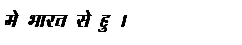 Preview of Kruti Dev 090 Bold Italic