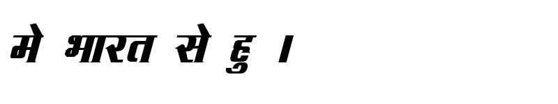 Preview of Kruti Dev 093 Bold Italic