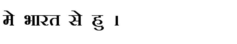 Preview of Kruti Dev 101 Bold