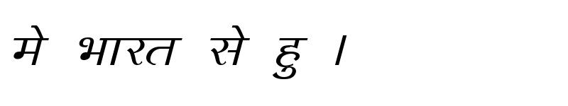 Preview of Kruti Dev 140 Italic