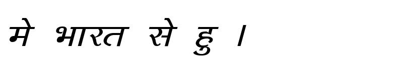 Preview of Kruti Dev 143 Bold Italic