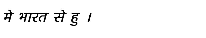Preview of Kruti Dev 160 Italic