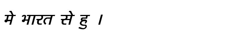Preview of Kruti Dev 162 Italic