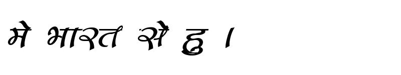 Preview of Kruti Dev 172 Italic