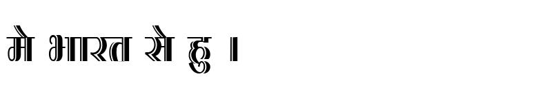 Preview of Kruti Dev 200 Condensed Regular