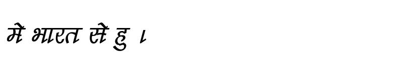 Preview of Kruti Dev 210 Italic