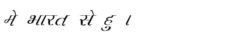 Preview of Kruti Dev 230 Italic