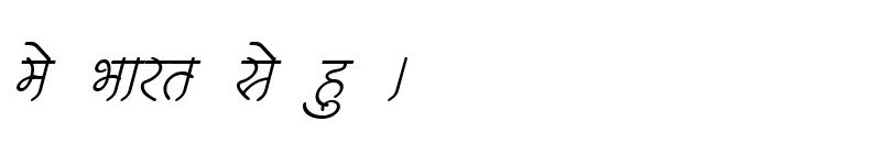 Preview of Kruti Dev 252 Italic