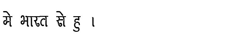 Preview of Kruti Dev 270 Condensed Regular