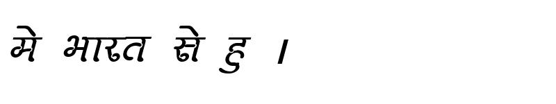 Preview of Kruti Dev 270 Italic