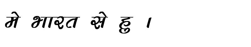 Preview of Kruti Dev 283 Bold Italic