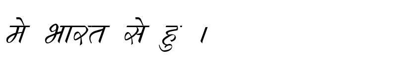 Preview of Kruti Dev 290 Italic