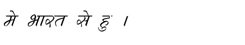 Preview of Kruti Dev 292 Italic