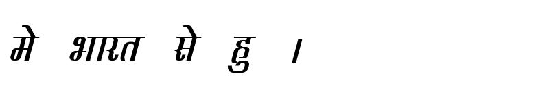 Preview of Kruti Dev 340 Bold Italic