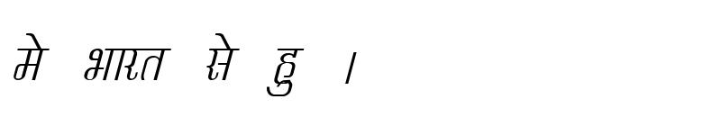 Preview of Kruti Dev 340 Italic