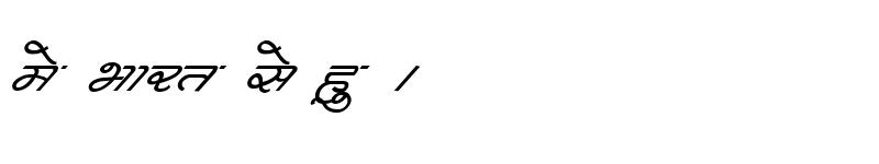 Preview of Kruti Dev 362 Italic