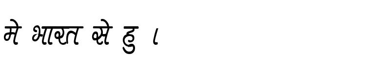 Preview of Kruti Dev 400 Condensed Regular
